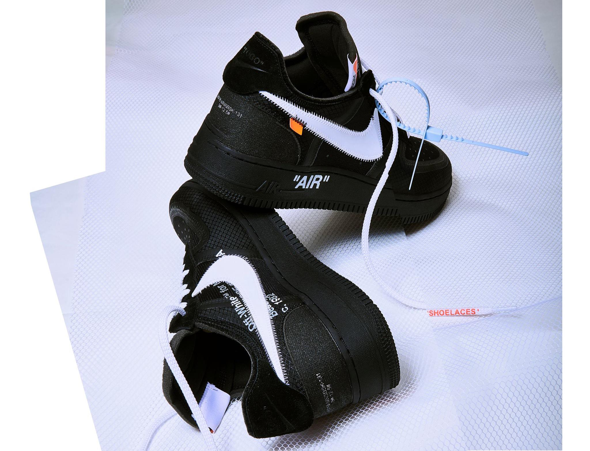 OFF-WHITE × NIKE AIR FORCE 1 LOW BLACK