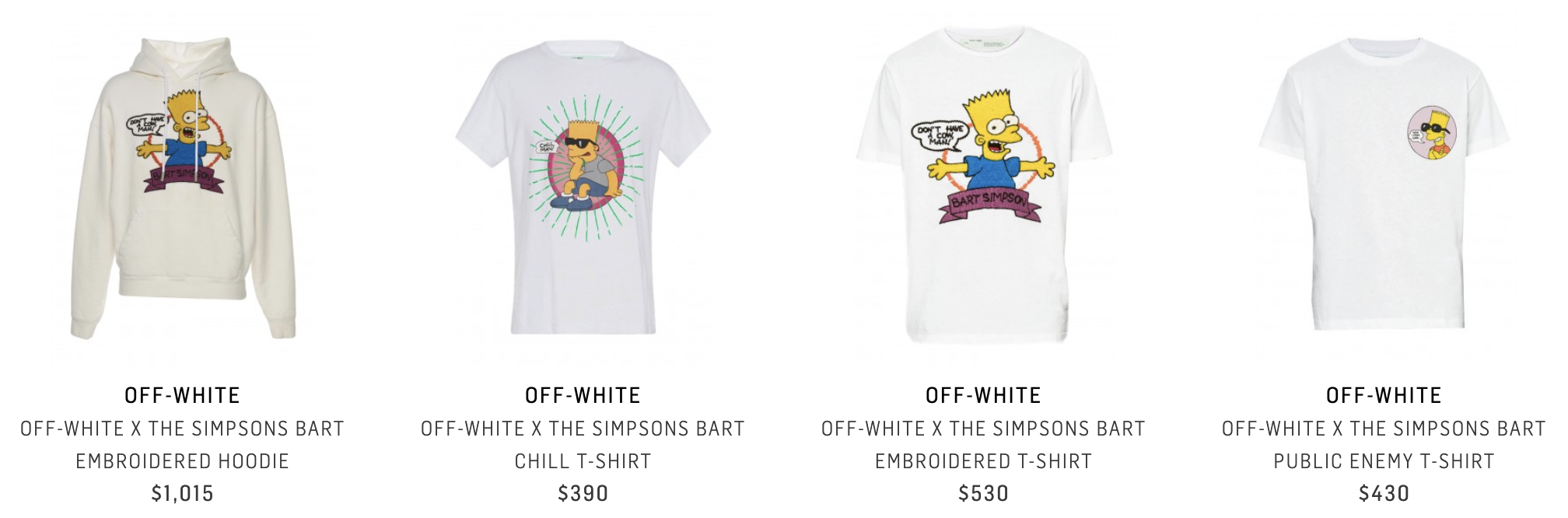 OFF-WHITE × THE SIMPSONS