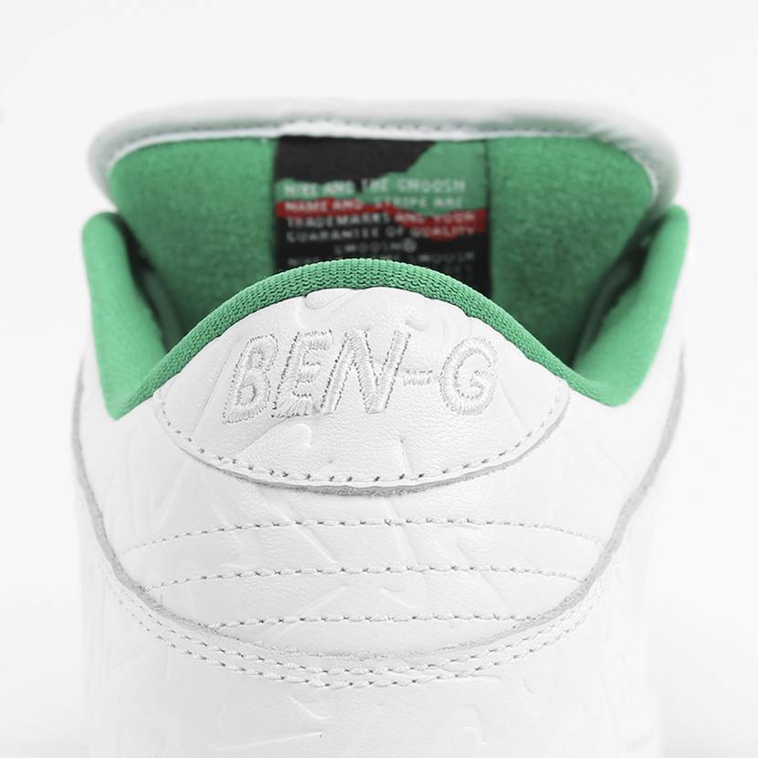 BEN-G×ナイキ SB ダンク ロー ホワイト/グリーン 9枚目