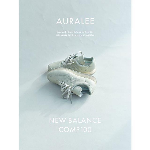 """オーラリー × ニューバランス  コンプ100 """"ホワイト/グレー"""""""
