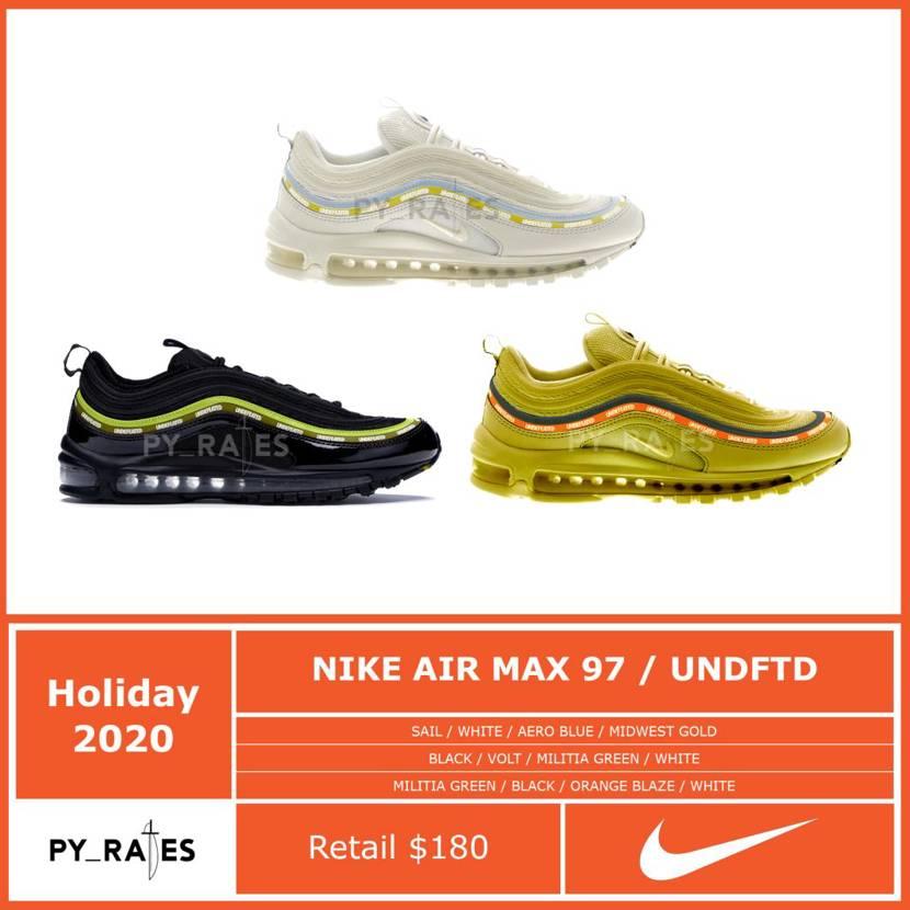 【リーク】UNDEFEATED × NIKE AIR MAX 97 3 COLORS 抽選/定価/販売店舗まとめ