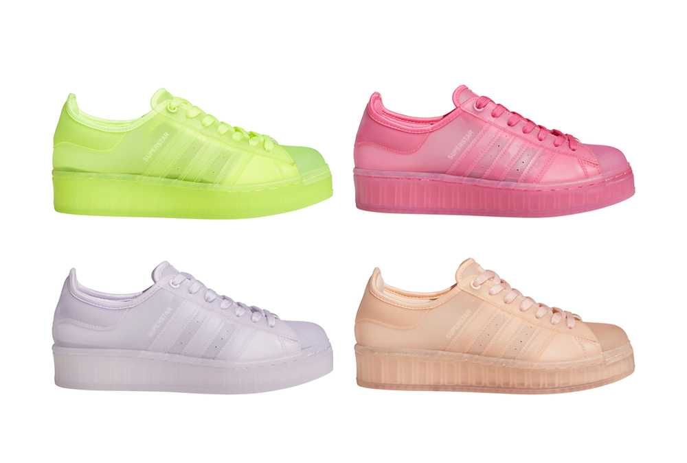 ADIDAS SUPERSTAR JELLY 4COLORS