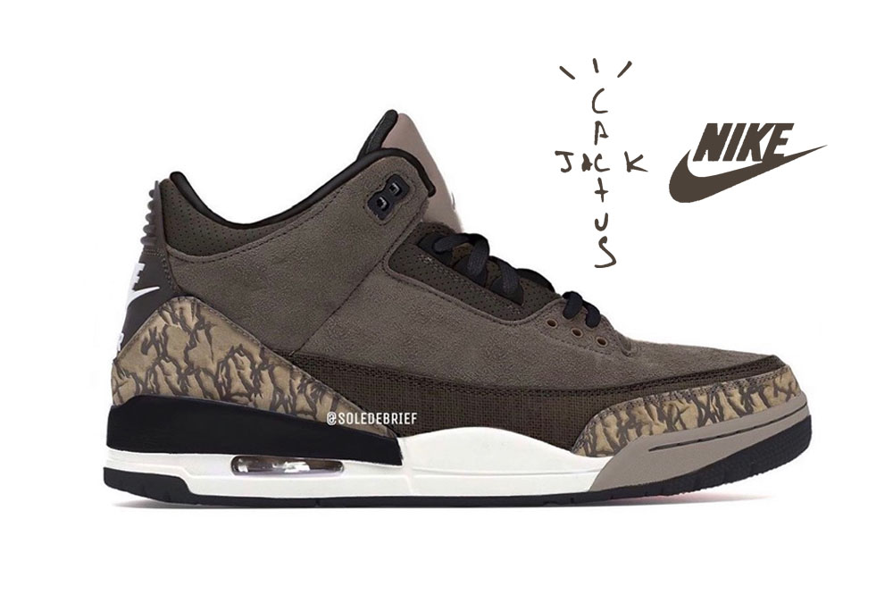 "【噂】TRAVIS SCOTT × NIKE AIR JORADN 3 ""CACTUS TRAILS"" 抽選/定価/販売店舗まとめ"
