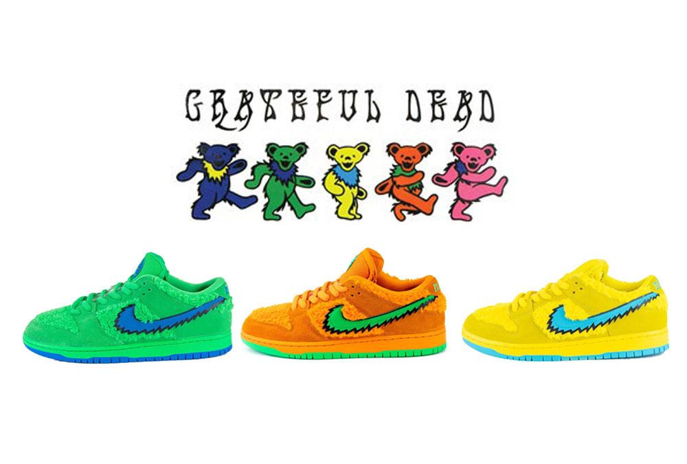 【2020年後半発売】GRATEFUL DEAD BEARS ×NIKE SB DUNK LOW 抽選/定価/販売店舗まとめ