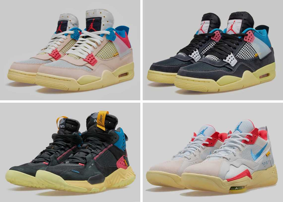 "【追加抽選情報あり】UNION × NIKE AIR JORDAN 4 & JORDAN DELTA & JORDAN ZOOM '92 ""KNOW THE LEDGE COLLECTION"" 抽選/定価/販売店舗まとめ"
