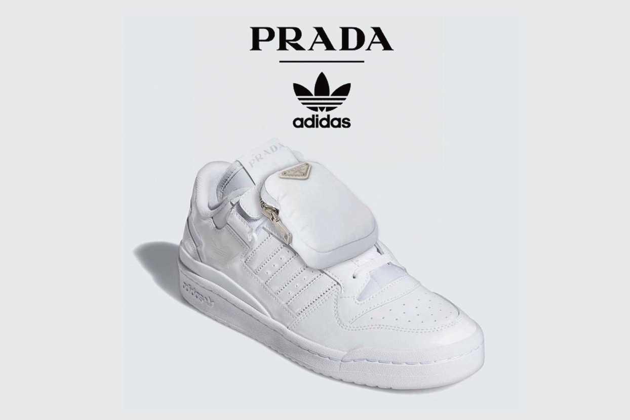"""【リーク】PRADA × ADIDAS ORIGINALS FORUM LOW """"WHITE""""  抽選/定価/販売店舗まとめ"""